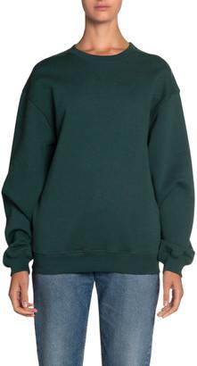 Balenciaga Logo-Back Looped Fleece Sweatshirt