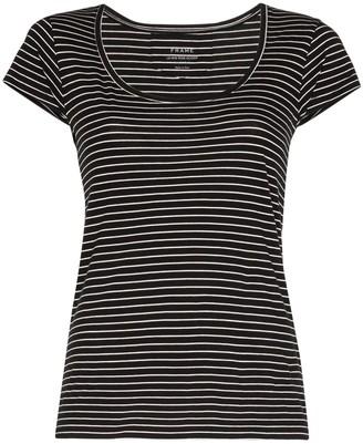 Frame Le Scoop striped cotton T-shirt
