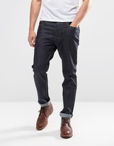 Brave Soul Dark Wash Raw Skinny Fit Jeans
