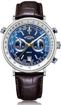 Rotary Watches Rotary Mens Silver Henley Watch With Blue Dial