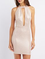 Charlotte Russe Mock Neck Open-Back Dress