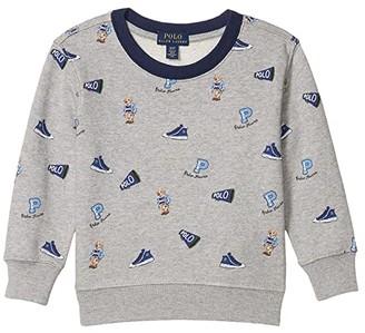 Polo Ralph Lauren Polo Bear Cotton Sweatshirt (Toddler) (Andover Heather) Boy's Clothing