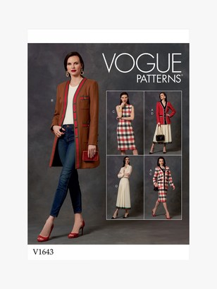 Vogue Women's Semi-Fitted Jacket, Dress and Skirt Sewing Pattern, 1643