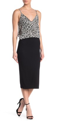 Know One Cares Knit Column Midi Skirt
