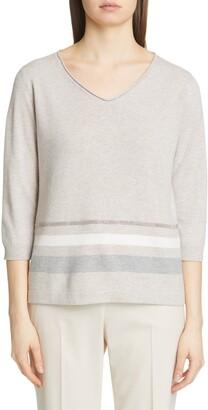 Fabiana Filippi Stripe Wool Blend Sweater