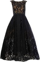 JS Collections All over lace gown with high low hem
