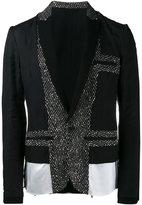 Haider Ackermann panelled blazer - men - Polyester/Virgin Wool/Acrylic/Viscose - 48