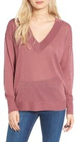 Leith Women's Sheer V-Neck Sweater