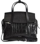 Reiss Sophie Croc Embossed Leather Crossbody Bag