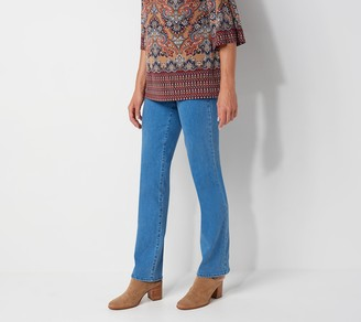 NYDJ Marilyn Straight-Leg Jeans w/ Double Button - Mina