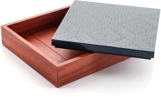 Hermes Theoreme H Losange Box Wood and Lacquer Medium
