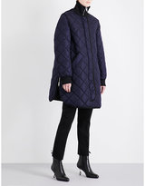 Sportmax Stand-collar quilted coat