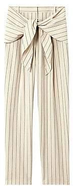 Tibi Women's Tropical Wool Striped Pants