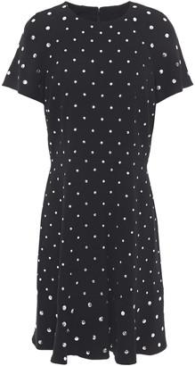 MICHAEL Michael Kors Fluted Studded Crepe Mini Dress