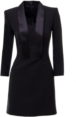 Alexander McQueen Lace Detail Mini Dress