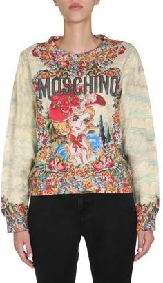 Moschino Graphic Print Round Neck Sweatshirt
