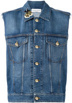 Sonia Rykiel sleeveless denim jacket - women - Cotton/Polyamide/Lyocell/PVC - 36