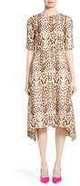 ADAM by Adam Lippes Women's Ocelot Print Wool Midi Dress