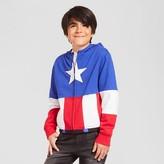 Marvel Boys' Captain America Hooded Sweatshirt - Blue