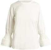 See by Chloe Bell-cuff cotton-jersey T-shirt