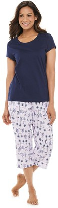 Croft & Barrow Women's Capri Eyelet Pajama Set
