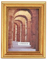 Lawrence Frames 8 by 10-Inch Antique Gold Picture Frame, Rope and Bead Border