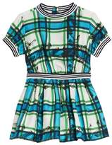 Burberry Melby Scribble Check Silk Dress