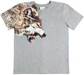 Marcelo Burlon County of Milan Wolf Print Cotton Jersey T-Shirt
