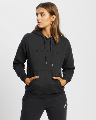 Rusty Women's Grey Hoodies - Essentials Ember Hooded Fleece - Size 6 at The Iconic