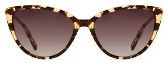 Garrett Leight Mildred 55 Cat Eye Acetate Sunglasses - Womens - Tortoiseshell