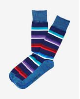 Express stripe and solid dress socks