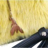 Patrizia Pepe Leather Bag With Faux Fur Flap