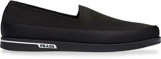 Prada sock-style loafers