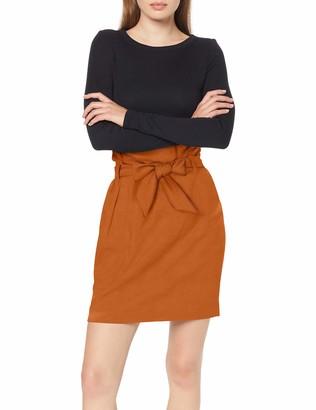 Object NOS Women's Onltina Faux Leather 3/4 Coat OTW Skirt