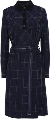 Piazza Sempione Belted Checked Woven Dress