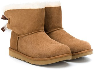 Ugg Kids TEEN shearling bow-detail boots