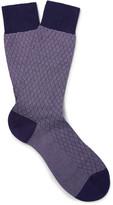 Pantherella - Forsyth Patterned Cotton-blend Socks