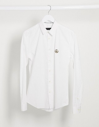 Love Moschino metal stud long sleeve shirt