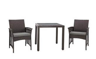 Bronx Ivy Remerton Backyard 3 Piece Dining Set with Cushions Ivy Color: Chocolate