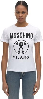 Moschino Logo Print Regular Cotton Jersey T-Shirt