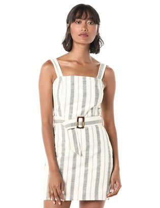 J.o.a. Women's Sleeveless Fit & Flare Belted Short Dress