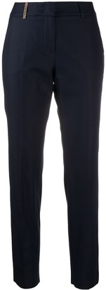 Peserico Cropped Slim Fit Trousers