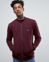 Lacoste Sweatshirt With Zip Up In Red