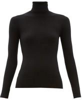 JoosTricot Peachskin Roll-neck Cotton-blend Sweater - Womens - Black
