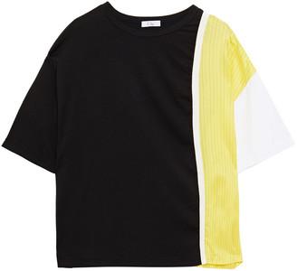 Clu Paneled Striped Twill And Cotton-jersey T-shirt