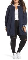 Junarose Plus Size Women's Juliane Tunic Length Bomber Jacket