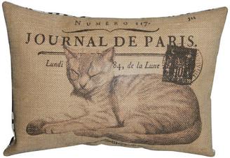 "Polkadot Apple Pillows French Cat Burlap Pillow, 12""x16"""