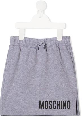 MOSCHINO BAMBINO Logo Drawstring Skirt