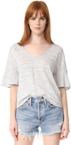 Splendid Linen Mini Stripe Tee