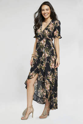 Coco And Carmen FLORAL MAXI WRAP DRESS